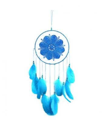 Attrape rêves bleu avec plumes