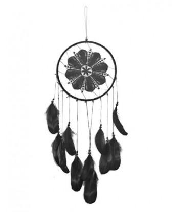 Attrape rêves noir avec plumes