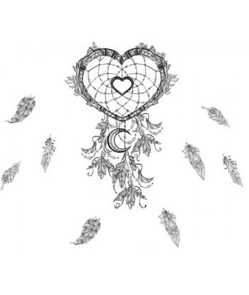 Sticker attrape rêves Coeur
